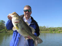 Trophy bass caught while fishing with Guide Tony Clark